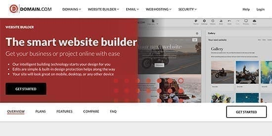 Site pour créer un site internet : Domain.com