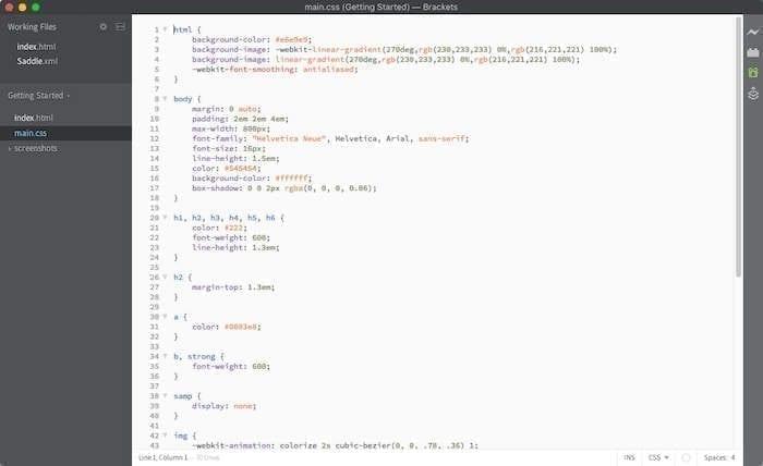 Éditeur de code source entre crochets