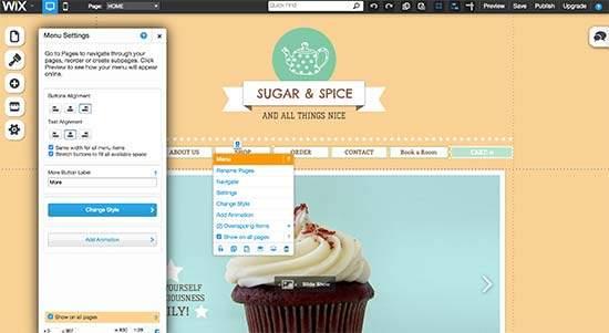Wix est un site pour créer un site internet