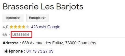 Categories Google My Business