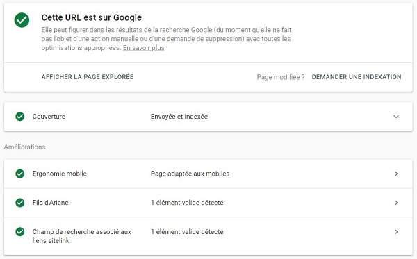 Cette URL est sur Google