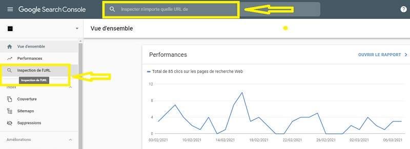Comment inspecter une URL dans la Google Search Console
