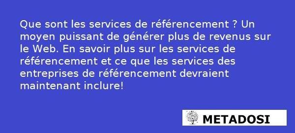 Services de référencement naturel