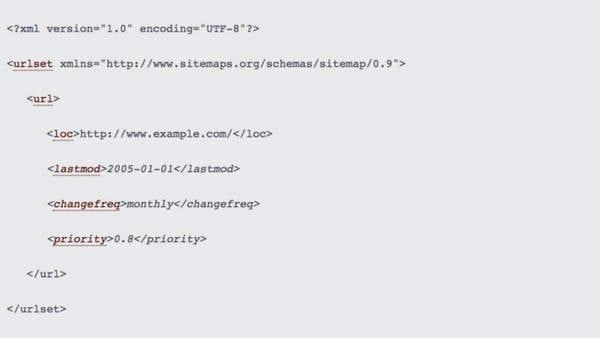 exemple de sitemap