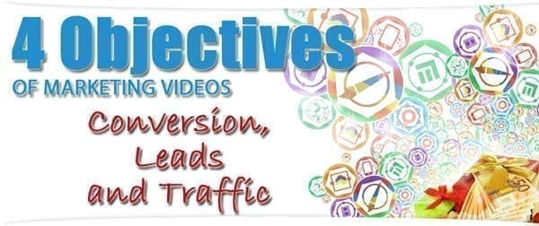 4 objectifs du marketing vidéo : trafic conversion leads et ventes