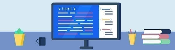 Le code html sur un écran d'ordinateur