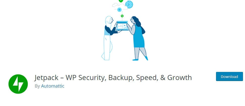 Page de l'extension de sécurité Jetpack
