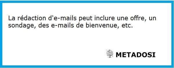 Un aperçu de ce que comprennent les services de rédaction d'e-mails